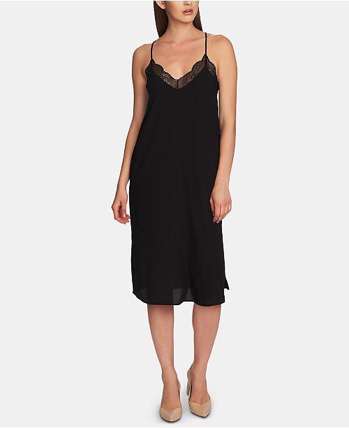 7d1a5cd99062 1.STATE Lace-Trimmed Midi Slip Dress   Reviews - Dresses - Women ...