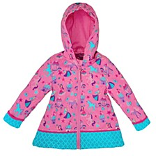Little Girl All Over Print Raincoat