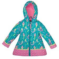 Big Girl All Over Print Raincoat