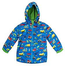 Little Boy Car Print Raincoat