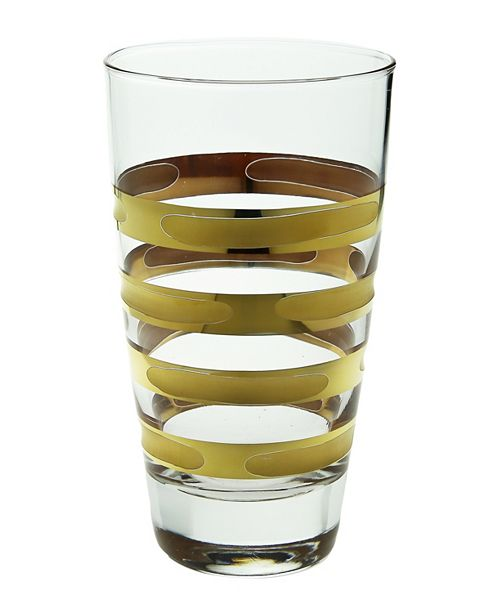 Classic Touch Brick Tumblers With 14K Gold Artwork- Set Of 6