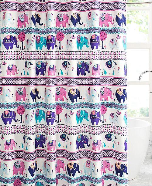 VCNY Home Ellie Elephant Printed 13-Pc. Shower Curtain Set