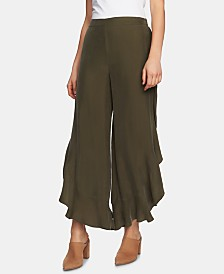 1.STATE Ruffled Wide-Leg Pants