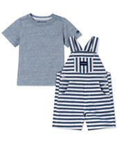 Calvin Klein Baby Boys 2-Pc. T-Shirt & Striped Shortall Set