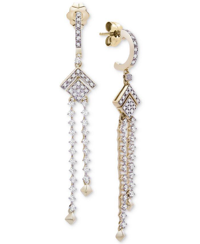 Wrapped in Love - Diamond (1/2 ct. t.w.) Geometric Chandelier Earrings in 14k Gold, Created for Macy's
