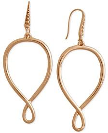 Gold-Tone Infinity Drop Earrings