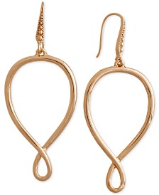 Laundry by Shelli Segal Gold-Tone Infinity Drop Earrings
