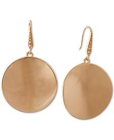 Gold-Tone Disc Drop Earrings
