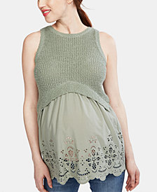 A Pea In The Pod Maternity Babydoll Sweater