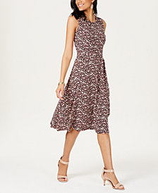 Charter Club Petite Ditsy-Print Midi Dress, Created for Macy's