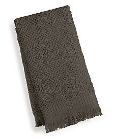 """CLOSEOUT! French Connection Dorinda Cotton 16"""" x 28"""" Fringe Hand Towel, Created for Macy's"""