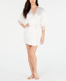 Flora by Flora Nikrooz Lace-Trim Wrap Robe
