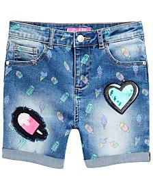 GUESS Big Girls Ice Cream Print Denim Shorts, Created for Macy's