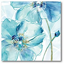 "Light Blue Flower I Gallery-Wrapped Canvas Wall Art - 16"" x 16"""