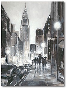 """Illuminated Streets II Gallery-Wrapped Canvas Wall Art - 16"""" x 20"""""""