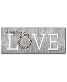 "Love - Do Everything in Love Gallery-Wrapped Canvas Wall Art - 12"" x 30"""