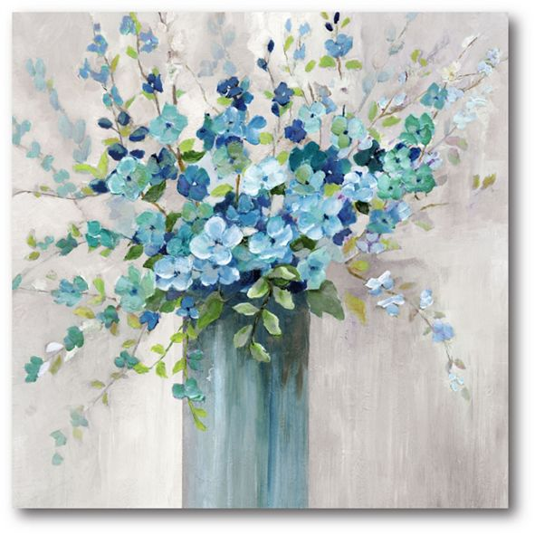 "Courtside Market Sea Isle Wildflowers Gallery-Wrapped Canvas Wall Art - 16"" x 16"""