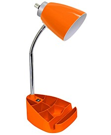 Limelight's Gooseneck Organizer Desk Lamp with iPad Tablet Stand Book Holder and USB port