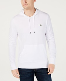 Lacoste Hoodie Jersey Long Sleeve Tee Shirt with Kangaroo Pocket