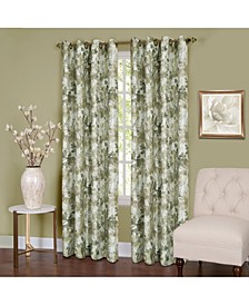 Tranquil Lined Grommet Window Curtain Panel, 50x63