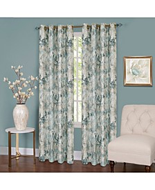 Tranquil Lined Grommet Window Curtain Panel, 50x84