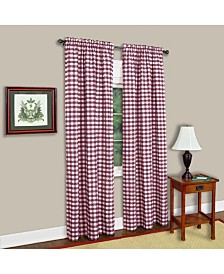 Buffalo Check Window Curtain Panel, 42x84