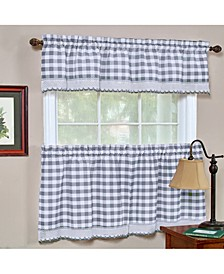 Buffalo Check Window Curtain Tier Pair, 58x24