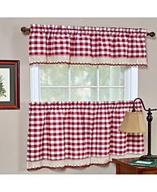 Buffalo Check Window Curtain Valance, 58x14
