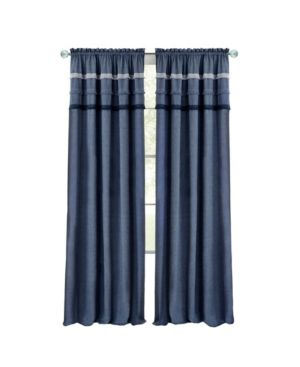 Image of Achim BJPN84BL06 52 x 84 in. Blue Jean Rod Pocket Window Curtain Panel Blue
