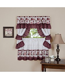 Inspiration Cottage Window Curtain Set, 57x24