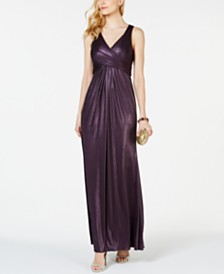 Adrianna Papell Metallic Mermaid Gown