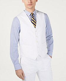 Tommy Hilfiger Men's Modern-Fit THFlex Stretch Solid White Suit Vest