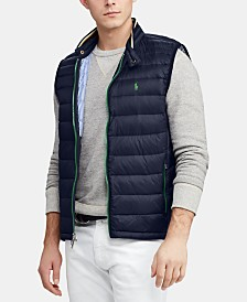 Polo Ralph Lauren Men's Packable Quilted Down Vest, Created for Macy's