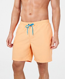 "Men's Quick-Dry Performance Solid 7"" Swim Trunks, Created for Macy's"