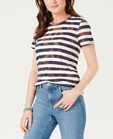 Lucky Brand Cotton Ombré-Striped T-Shirt
