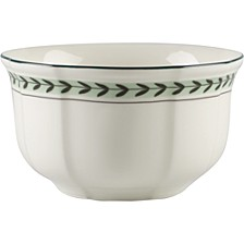 French Garden Green Lines Rice Bowl