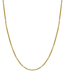"Box Link 20"" Chain Necklace (0.5mm) in 18k Gold"