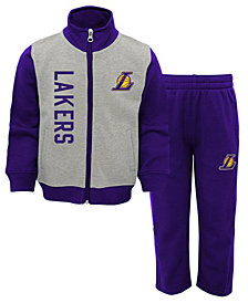 Outerstuff Los Angeles Lakers On the Line Pant Set, Toddler Boys (2T-4T)