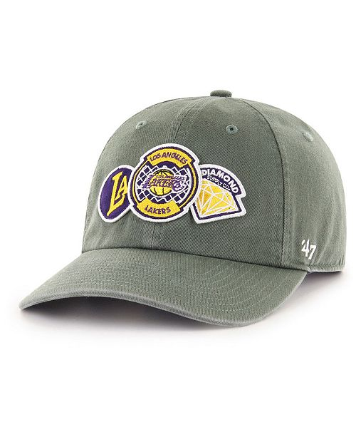online retailer 07f06 27f71 ...  47 Brand Los Angeles Lakers Diamond Patch CLEAN UP MF Cap    ...