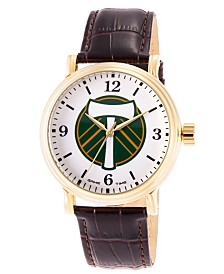 Gametime MLS Portland Timbers Men's Shiny Gold Vintage Alloy Watch