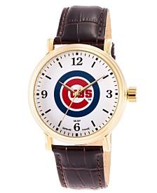 Gametime MLB Chicago Cubs Men's Shiny Gold Vintage Alloy Watch