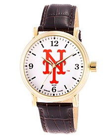 Gametime MLB New York Mets Men's Shiny Gold Vintage Alloy Watch
