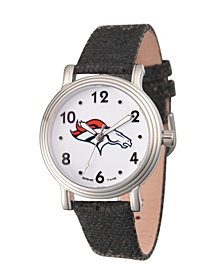 Gametime NFL Denver Broncos Women's Silver Vintage Alloy Watch