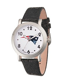 Gametime NFL New England Patriots Women's Silver Vintage Alloy Watch