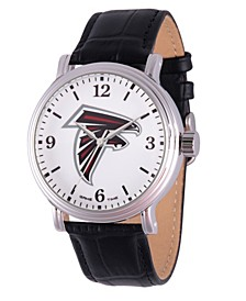 Gametime NFL Atlanta Falcons Men's Shiny Silver Vintage Alloy Watch