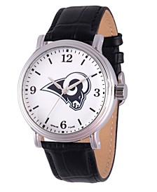 Gametime NFL Los Angeles Rams Men's Shiny Silver Vintage Alloy Watch