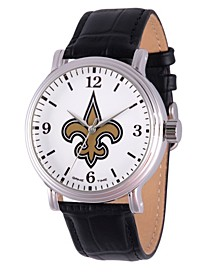 Gametime NFL New Orleans Saints Men's Shiny Silver Vintage Alloy Watch