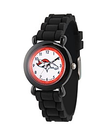 Gametime NFL Denver Broncos Kids' Black Plastic Time Teacher Watch
