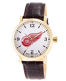 Gametime NHL Detroit Red Wings Men's Shiny Gold Vintage Alloy Watch