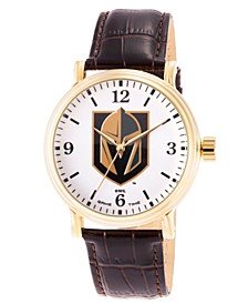 Gametime NHL Vegas Golden Knights Men's Shiny Gold Vintage Alloy Watch